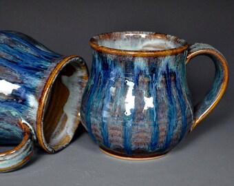 Indigo Blue Mug Ceramic Coffee Mug Stoneware Mug