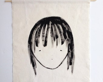 Girl No 1 painted wall hanging