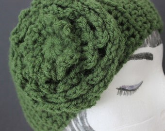 """Knitted """"Seaweed Green""""  Head Band,  Ear Warmer,  ***  FREE SHIPPING (USA address only)***"""