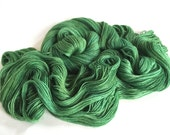 Tamusi Pure Alpaca 4 Ply/Fingering Yarn. Green Goblin