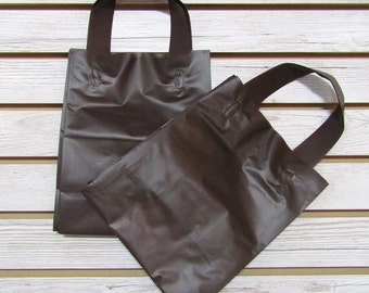 20 Pack Chocolate Brown Soft Loop Handle Bags (8 x 10 in.) // BOUTIQUE CHIC //