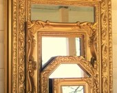 5 Ornate Gold Wall Mirrors Shabby Chic Home Decor