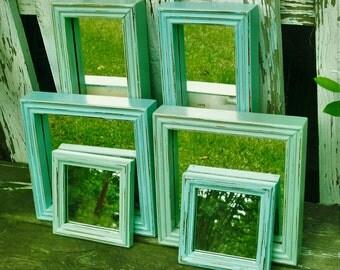 7 Shades of the Beach  Wall Mirrors Robins Egg Blue & Sea Foam Green