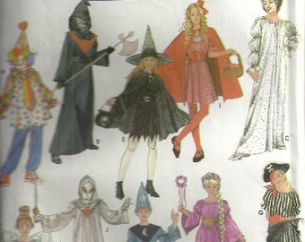 Children's Halloween Costume Pattern Simplicity 4860 Size 7 8 10 12 14 Uncut