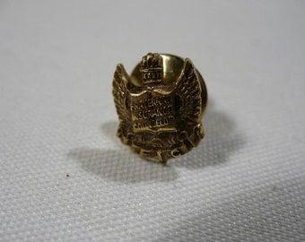Vintage Fraternal Insurance Counselor Pin, 1/20 10K G.F.