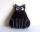 Black fat cat plushie