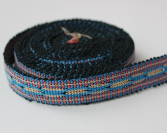 Uzbek color woven trim Jiyak. Ethnic Boho trim