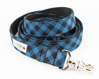 Blue Buffalo Plaid Dog Leash