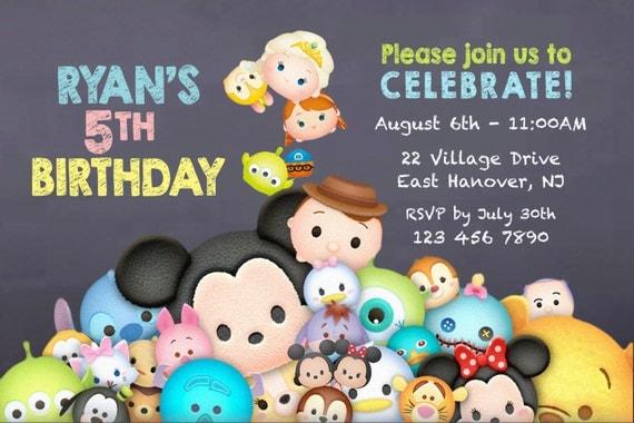 il_570xN.985100312_508k diy print invitation tsum tsum invite tsum tsum party,Tsum Tsum Invitation
