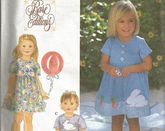 Simplicity Rare Editions Toddler Dress , Top and Pants Pattern SZ 1/2-2
