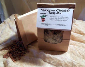 Mexican Chicken Soup Mix, Gourmet Soup at home, dry mix,  wild rice