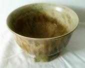 Large Green Ceramic Bowl Stoneware