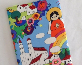 Notebook Cover Fabric Composition Notebook Cover Reusable Cover Travel Journal Cover Day Planner Mexican Fabric Gift for Her