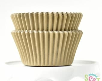 Solid Gold GREASEPROOF Cupcake Liners BakeBright Baking Cups | ~30 count