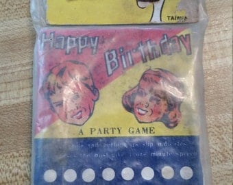Vintage Dead Stock Party Punch Board Original Package Gag Made in Taiwan