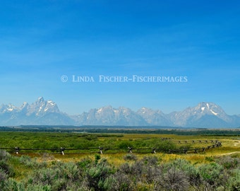 Grand Teton National Park Nature Wall Art Home Decor Mountain Fine Art Photography Digital Download Fischerimages