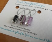 Cane glass stitch markers