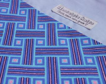 Blue African fabric knitting bag, drawstring bag, project bag, African fabric bag, African fabric drawstring bag, UK knitting shop