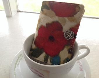 Tea Wallet, LAST ONE, Tea Bag Travel Case, Teabag Holder Organizer, Tea Bag Pouch, Gift For Coworker, Party Favor, Gift Under 15