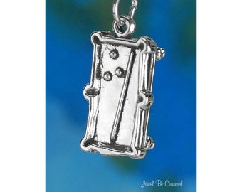 Sterling Silver Billiards Pool Table Charm Game Room 3D Solid 925