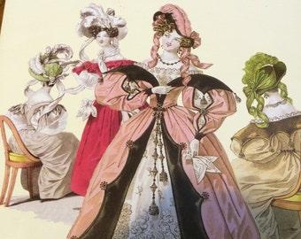 French Fashions of the Romantic Era 1830-34 * 120 plates Design Historical Fashion Theatre Stage Fashion Book Reenacting Pre-Civil War Dress