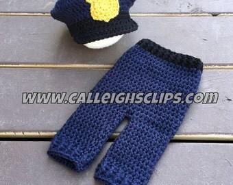 Police Officer Hat & Pants Set