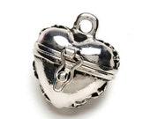 Secret Keeper Charm, Prayer Box Charm,Craft Supply,Jewelry Supply