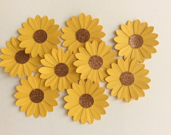 25 cardstock Sunflower - Scrapbooking Paper Embellishment