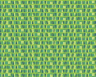 Sundaland Jungle - Dots & Dashes in Green by Katy Tanis for Blend Fabrics