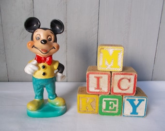Vintage Mickey Mouse Figurine 1960