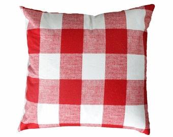 Red Buffalo Check Pillow Cover