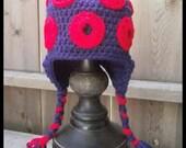 Phish Hat, Donut Hat, Crochet Hat, Phish Fishman Tam, Phish, Fishman Donut, Phishman Beanie