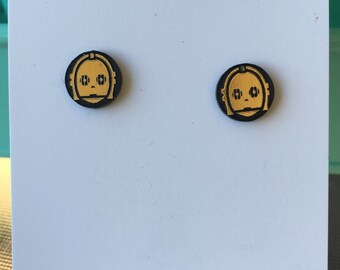 C3P0 inspired earrings