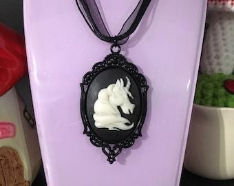 SALE ** SALE ** SALE Black unicorn necklace