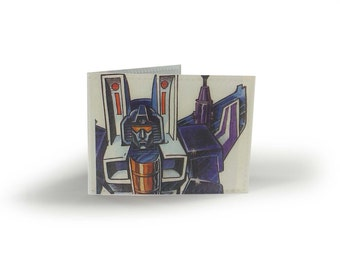 Vintage Transformers Card Holder - for Oyster Card, school bus pass, Tube, Metro, travel cards