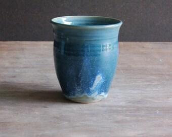 Tumbler, Handmade Ceramic Drinking Glass Drinkware Toothbrush Vase in Celestial Blue