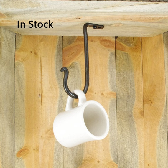 Large Hand Forged Under Cabinet Hook Ceiling Hook Cup Hook