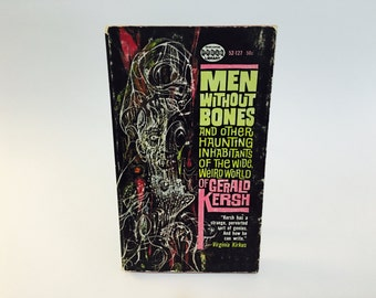 Vintage Sci Fi Book Men Without Bones by Gerald Kersh 1962 Paperback Anthology