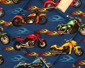 Reusable Sandwich Wrap, Reusable Gift Wrap, Waste Free Lunch, Placemat, Reusable Lunch Wrap, Motorcycle