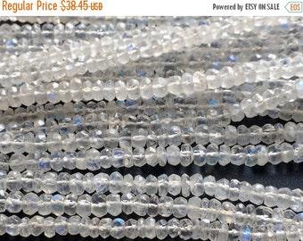 55% ON SALE Rainbow Moonstone Rondelle, 5-5.5mm Beads, Faceted Rondelle Beads, Rainbow Moonstone Necklace, 14 Inch Strand
