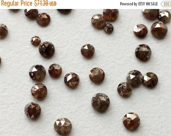 50% VALENTINE SALE Brown Diamond, Brown Rose Cut Natural Diamond, Brown Rough Diamond, Brown Raw Diamond,  3mm To 4mm, 4 Pcs, 1 CTW