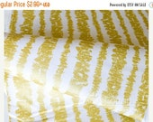 CLEARANCE Glitz Bars Bright White, Metallic Gold Print, Cotton Quilting Weight Fabric, Michael Miller Fabrics,