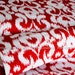 KNIT Jersey Cotton Fabric, Red and White in Knit,  Ikat Knit Collection, Riley Blake Designs