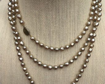 Signed Miriam Haskell Necklace, Baroque Pearls, Haskell Pearl Necklace,  Estate Jewelry, Wedding