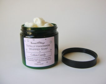 Cotton Candy Whipped Soap, Cream Soap in a Jar, Natural Vegan Soap