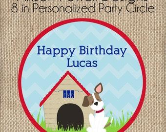 Puppy-Dog-Puppy Dog Birthday Party 8 inch Decorative Party Circle - Custom Wording