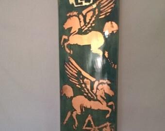 Copper Leaf Skateboard Deck