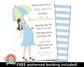 Baby Boy Shower Invitation - Baby Shower Invitations - Blue and Mint Baby Shower - Boy Baby Shower Invite - Printable Baby Shower Invites