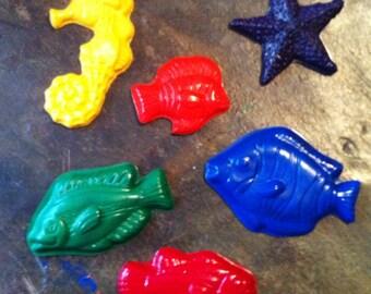 Fish crayons