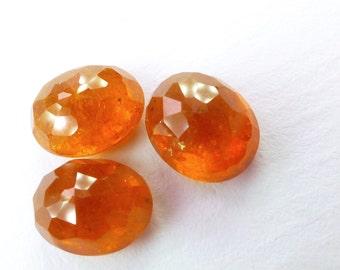 Natural Spessartite Garnet Rose Cut Cabochon. Fanta Orange. Micro Facet. Oval. 1 pc. 3.36 cts. 7x9x5 mm (GA932)